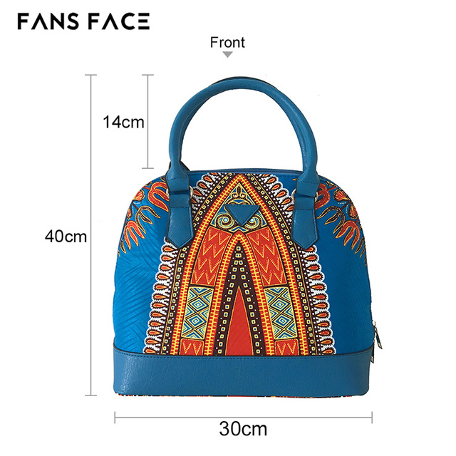 FANS FACE Traditional African Print Bags Female Shopping/Party Luxury Handbags Women Blue Bags Designer afrikanische kleider 2