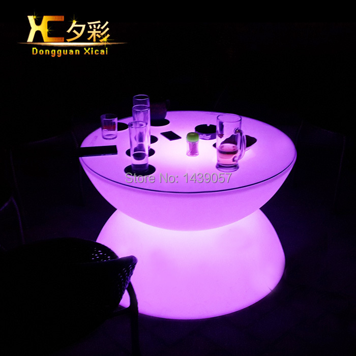 LED Bar Coffee Dining Table Color Changing Furniture Plastic Drinking Desk For Living Room Swimming Pool Ceremony Wedding Party led luminous bar table plastic color changing coffee dining room garden drinking tables