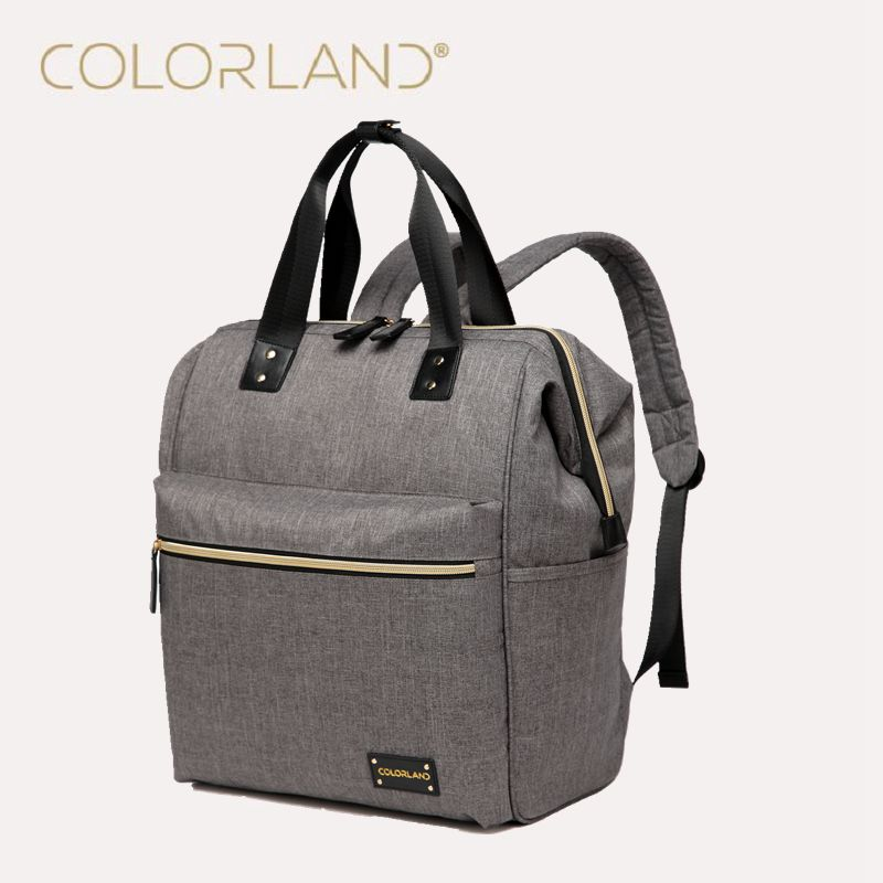 6 color Colorland Diaper Backpack Fashion Mummy Maternity Nappy Bag Brand Baby Travel Bags for Mom Backpack Nursing Bag fashion cute panda baby mummy diaper nappy bags keep fresh lunch breast milk bag thermal portable travel picnic hobos baby care