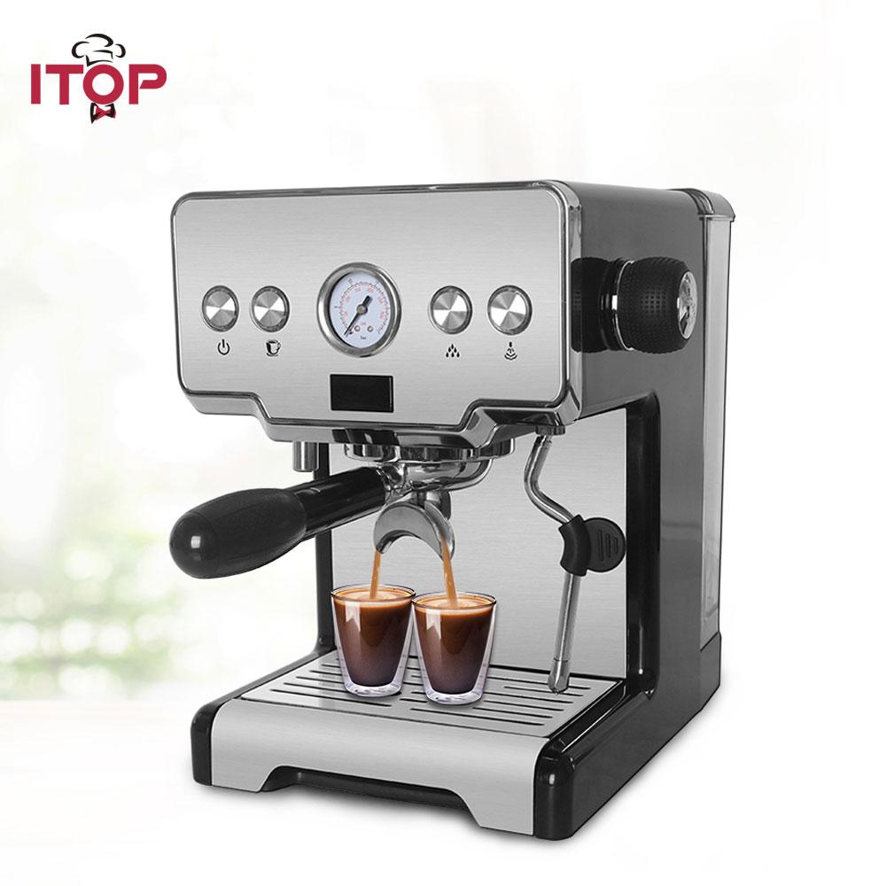 ITOP Household Semi-automatic Espresso Coffee Maker Machine, Multifunctional 15Bar Cappuccino Latte Milk Foam Coffee Maker