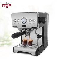 ITOP Household Semi automatic Espresso Coffee Maker Machine, Multifunctional 15Bar Cappuccino Latte Milk Foam Coffee Maker