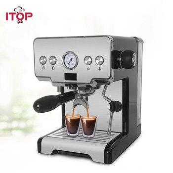 ITOP gospodarstwa domowego półautomatyczne kawiarka do espresso maszyna wielofunkcyjny 15Bar Cappuccino Latte spienione mleko ekspres do kawy tanie i dobre opinie Z Wyświetlaczem Stainless steel+plastic 1450W IT-CRM3605 220-240 v Machiatto Americano Household Semi-automatic Espresso Coffee Maker Machine
