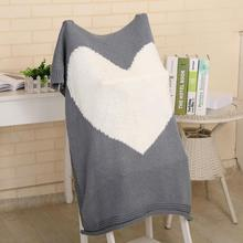 Lovely Heart Printed Knitted Cotton Swaddle Blanket