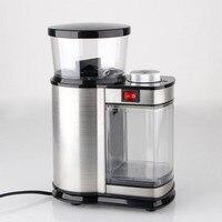 Из нержавеющей стали, Электрический Кофе измельчитель кофе мельница из нержавеющей коническая Кофемолка электрическая Кофеварка электрич