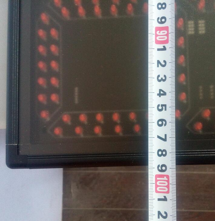 8 նիշ կարմիր ժամ, րոպե և վայրկյան LED - Տնային դեկոր - Լուսանկար 3