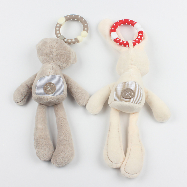 Hanging Plush Rattle for Baby / 2 Styles