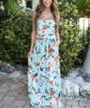 Women's Floral Printed Sleeveless Long dress elegant maternity photography dress fashion maternity wear 342