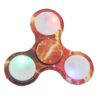 LED Triangle Finger Spinner Multi Color Plastic EDC Hand For Autism/ADHD Anxiety Stress Relief Focus Toy