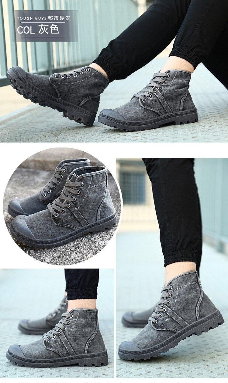 táticas alto superior botas do exército homens tênis hombre chaussure homme
