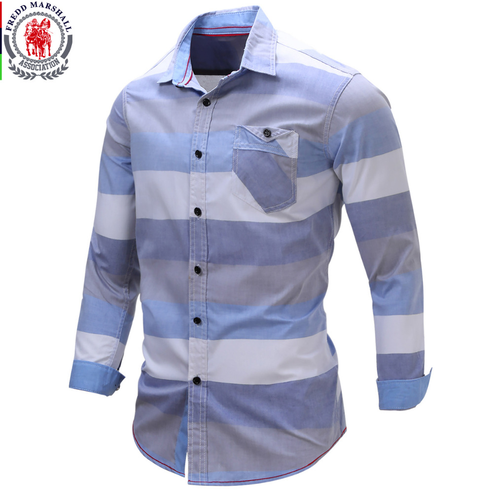 2017 new arrival men 39 s shirt striped long sleeve plaid for New look mens shirts