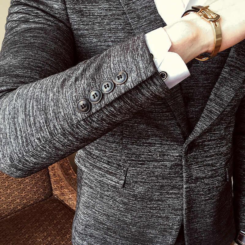 b9d1e7f88 Plyesxale 2019 primavera otoño hombres trajes boda novio traje Homme  ajustado Fit fiesta cena traje de Navidad chaqueta pantalones chaleco Q188