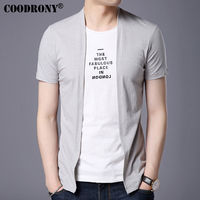 COODRONY 2017 Spring Summer New Arrival Fashion Short Sleeve T Shirt Men Brand Clothing Print Pure