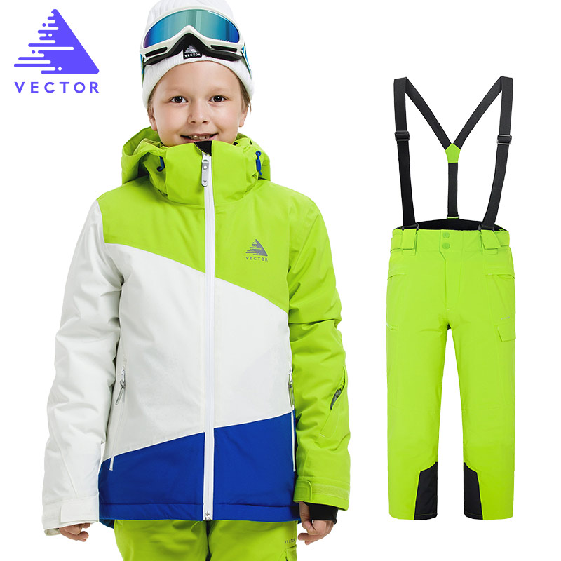 Boys Ski Jacket Children Waterproof Windproof Clothing Skiing Jacket+Pant Snow Suit Winter Warm Snowboard Outdoor Ski Suit Boys 2016 new free shipping kids boys winter clothing set skiing jacket pant snow suit 20 30 degree boys ski suit size134 164