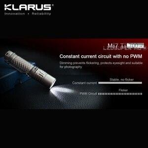 Image 4 - En çok satan KLARUS Mi7 Ti 700 lümen CREE XP L HI V3 LED taşınabilir titanyum AA el feneri ücretsiz pil ile