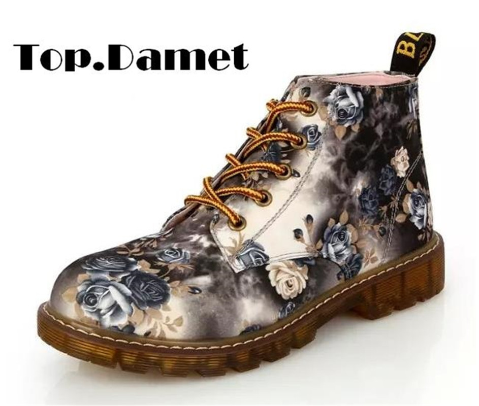 Top.Damet Women Fashion Short Boots Lace Up Ankle Shoes Floral Print Cowboy Cowgirl Western Boot Motorcycle Plus SizeTop.Damet Women Fashion Short Boots Lace Up Ankle Shoes Floral Print Cowboy Cowgirl Western Boot Motorcycle Plus Size