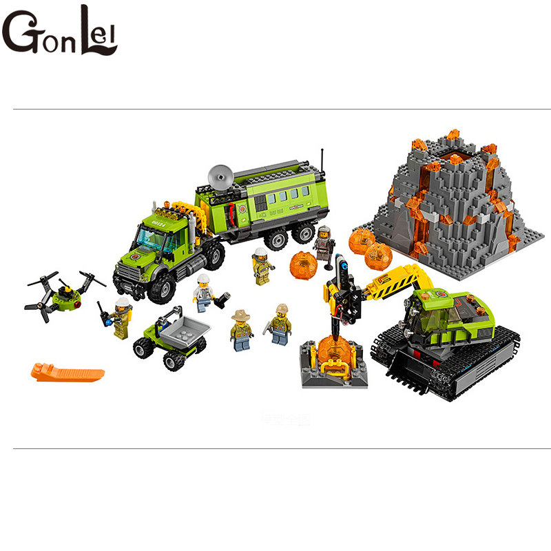 GonLeI 10641 Bela City Series Volcano Exploration Base Geological Prospecting Building Block Bricks Toys Gift For Children 60124GonLeI 10641 Bela City Series Volcano Exploration Base Geological Prospecting Building Block Bricks Toys Gift For Children 60124