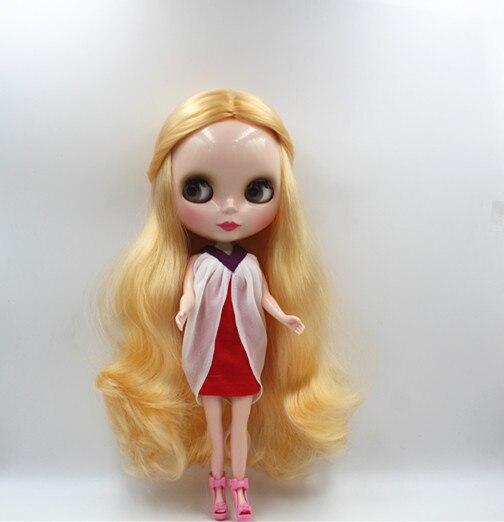 Blygirl Blyth boneca Golden wave curls boneca NO.03BL953 7 articulações do corpo comum da cor normal da pele
