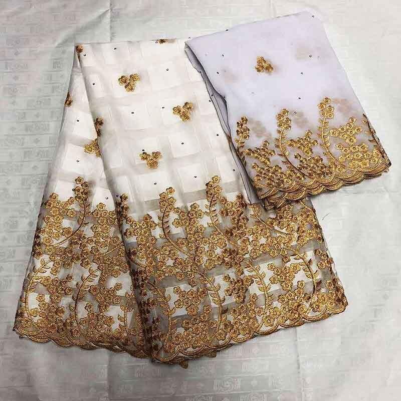 Color blanco 2019 tela de encaje de África gasa suiza en Suiza 100% tela de algodón, tela de encaje francés gasa con bordado-in encaje from Hogar y Mascotas    1
