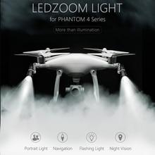 Фотография PGYTECH LED Zoom Light Navigation Lamp Headlight Spotlight for DJI Phantom 4/4 Pro/4 Pro+ Drone