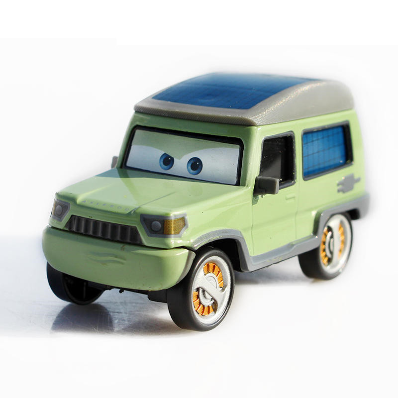 Pixar Car Movie 2 1:55 Metal Diecast Sir Miles Axlerod Toy Cars Action Figures Cute Toys For Children Kids Gifts Anime Cartoon pixar cars 2 sheriff diecast metal classic toy cars for kids children brio toy car 1 55 for children kids toys thomas and friend