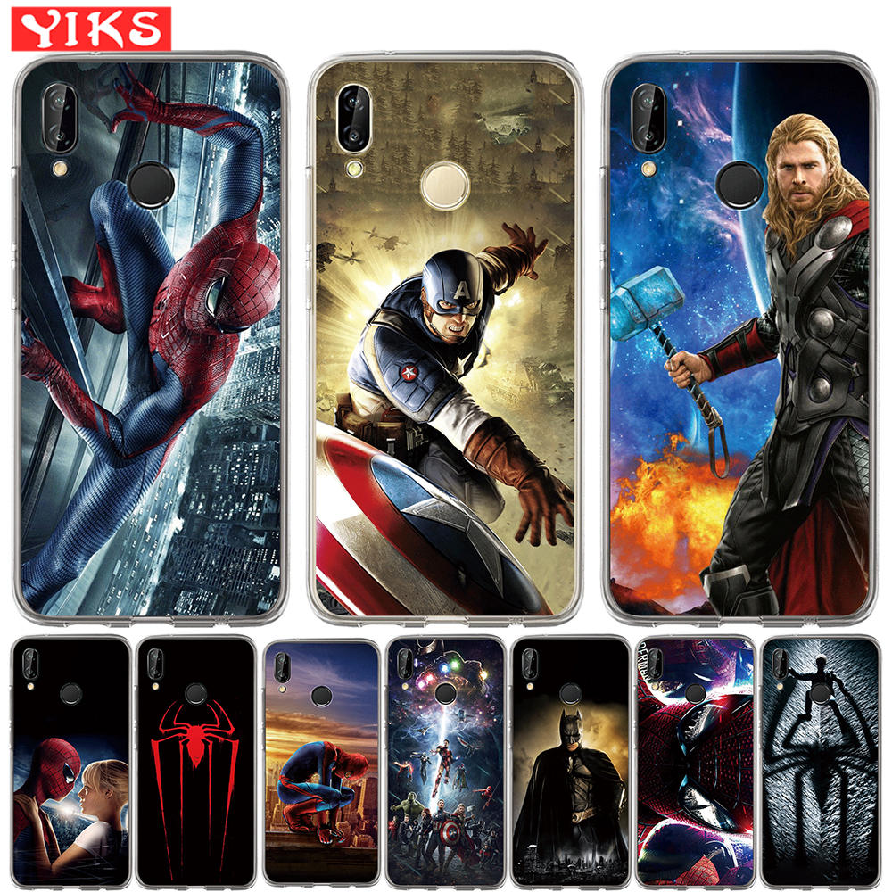 Movie hero Cases For Huawei Mate 9 10 20 P8 P9 P10 P20 Lite Plus Pro 2017 Cases Soft Silicone Cover Marvel Avengers Fundas Etui image