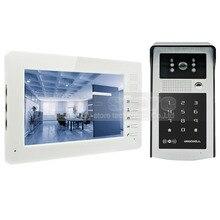 DIYSECUR 1024×600 7 pulgadas HD Monitor Video de la Puerta Teléfono Video Intercom Timbre 300000 Píxeles de Visión Nocturna Cámara RFID