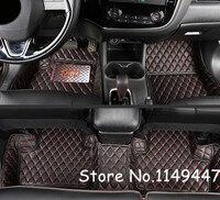Accessories For 2011 2017 Mitsubishi Pajero Sport/Montero Sport 5 Seats Interior Black Leather Foot Floor Mat & Carpets Cover