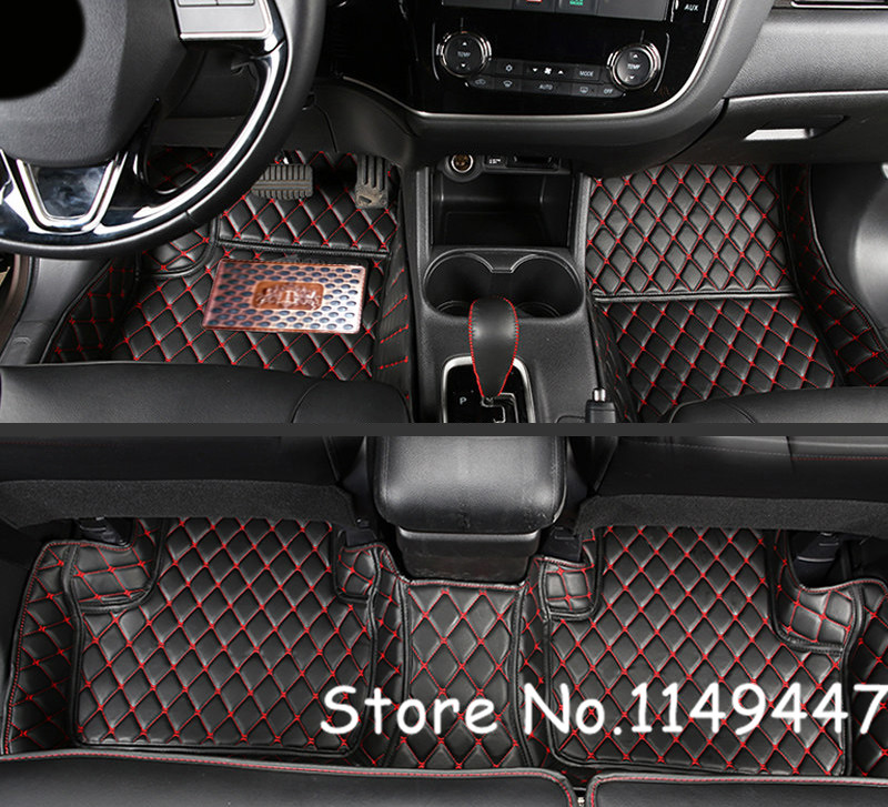 Accessories For 2011-2017 Mitsubishi Pajero Sport/Montero Sport 5 Seats Interior Black Leather Foot Floor Mat & Carpets Cover car tail lamp 2011 2017 for mitsubishi pajero montero sport full led taillight plug and play year pajero taillights back