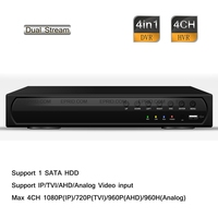 4CH 1080P 720P 960H Stand Alone Hybrid DVR HD NVR HDTVI AHD IP Analog HDMI