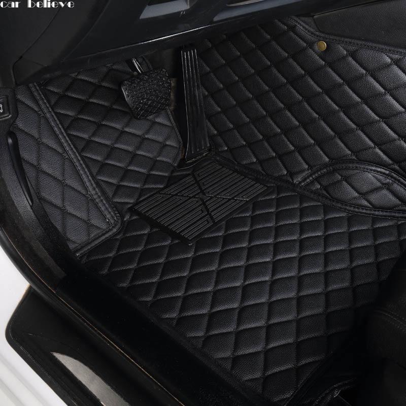Car Believe Auto car floor Foot mat For skoda superb 2017 3 kodiaq yeti octavia rs 1 fabia 3 karoq rapid 2017 car accessories