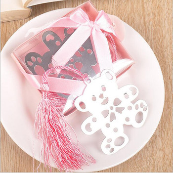 Free shipping 100pcs baby boy Bookmark +baby shower party wedding favors gift