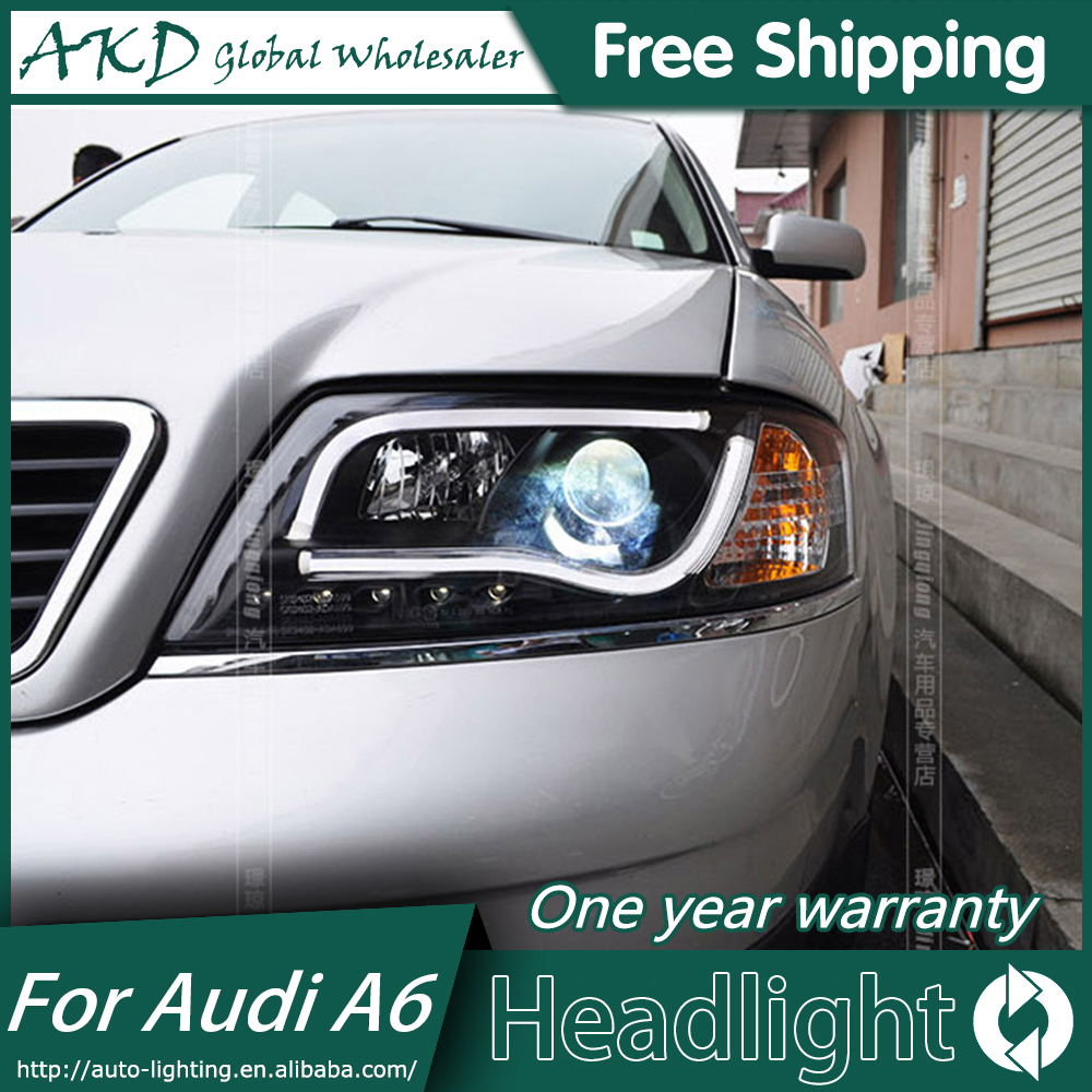 AKD Car Styling for Audi A6 Headlight LED Headlight ANGEL EYE LOW BEAM high beam DRL Bi-Xenon Lens HID akd car styling for nissan teana led headlights 2008 2012 altima led headlight led drl bi xenon lens high low beam parking