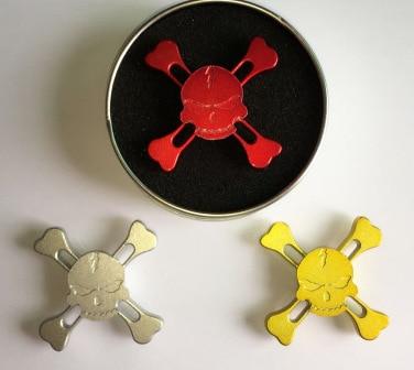 2017 New Skull Torqbar Fidget Hand Spinner Tri spinner For Adult Kids To Reduce Pressure Fidget