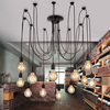 Loft Retro Big Spider Chandelier Lighting DIY 14 Lights Edison Retro Vintage E27 AC 110V 220V