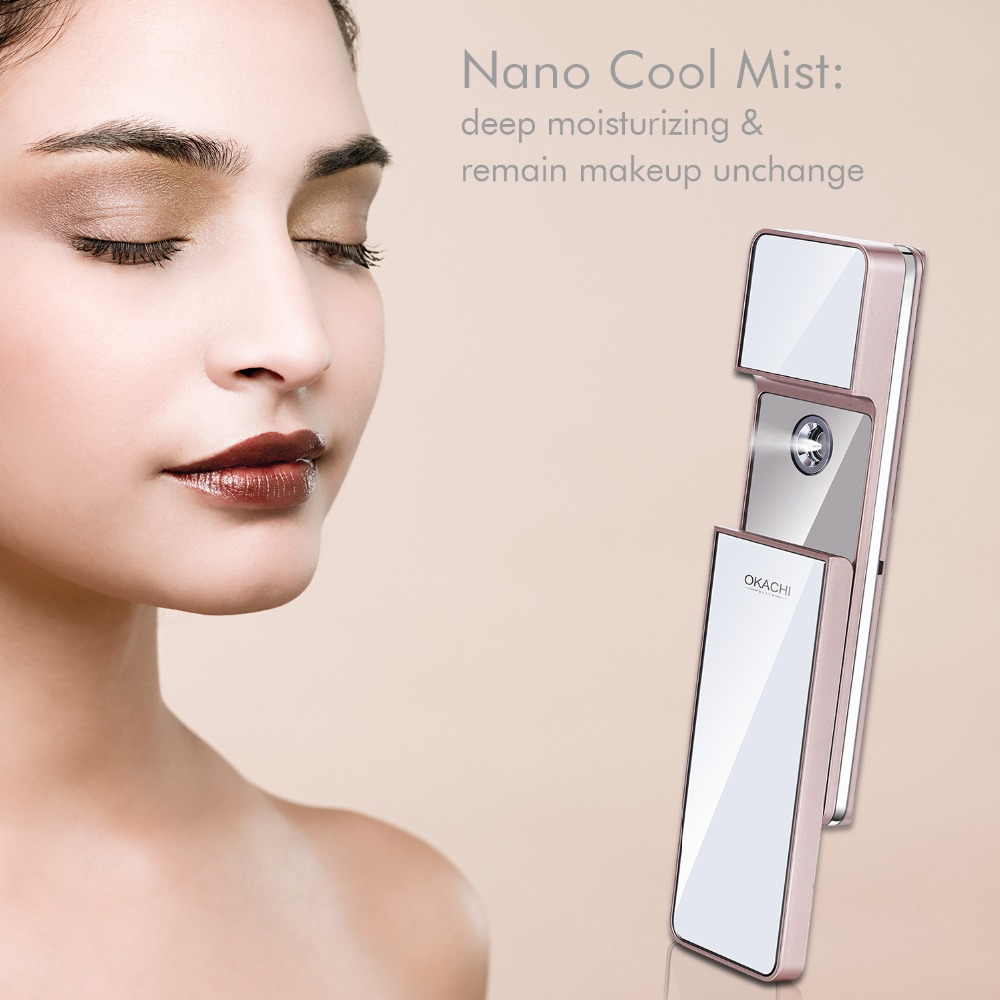 Portable Nano Facial Mist Spray Hydrating Refresh Soft Skin Mister Mini Humectant Beauty Skin Care Tool Water Spa with MirrorPortable Nano Facial Mist Spray Hydrating Refresh Soft Skin Mister Mini Humectant Beauty Skin Care Tool Water Spa with Mirror
