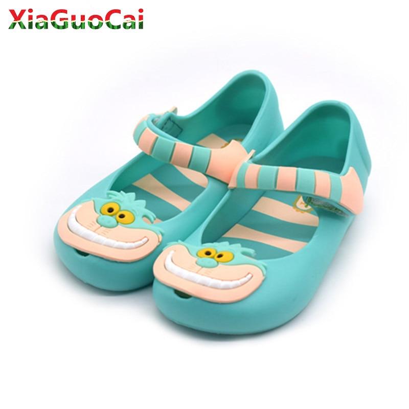 Summer New Classic Litter Child Sandals Boys Girls Kids PVC Soft Bottom Shoes Baotou Beach Cartoon Hook&Loop Mini Sandals A85