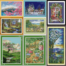 Joy Sunday Mount Fuji Counted Cross Stitch Embroidery Landscape 11CT 14CT Garden Kits for