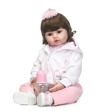 Simulation Princess Babies Reborn Dolls 24'' Soft Silicone NPK Design For Doll Collector 100% Handmade Baby Dolls Kids Xmas Gift