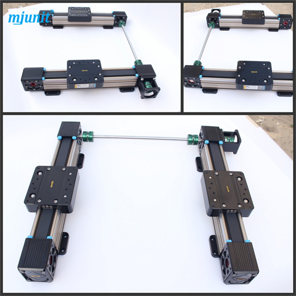 MJUNIT linear guide with Belt Drive Linear Actuator Linear Actuator Belt Drive Dual-Carriage -Plasma CNC belt driven linear slide rail belt drive guideway professional manufacturer of actuator system axis positioning