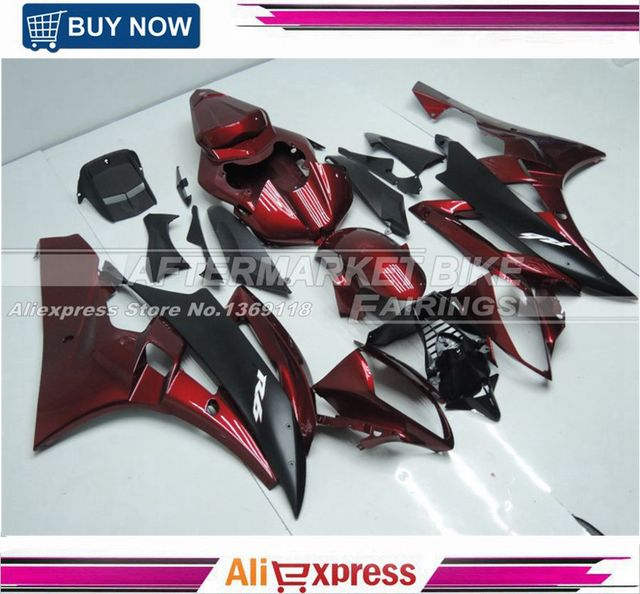 US $417 57 7% OFF|100% Good Quality Fairing Body For Yamaha YZF R6 06 07  ABS Plastic Fairing Kit Candy Red-in Covers & Ornamental Mouldings from