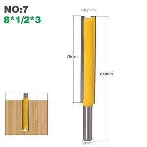Image 5 - Haste extra longa 3 lâmina 8mm 1 peça 8mm, dia de corte. Ponteira roteadora reta cortador de madeira tenon cortador para trabalho de madeira
