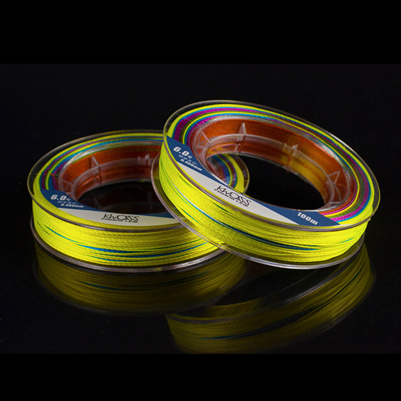 Image 5 - 100m PE Fishing Line 9 Strands Braided Fishing Line Multicolor Ultra high Strength Multifilament Fishing Gear Accessory JC-in Fishing Lines from Sports & Entertainment
