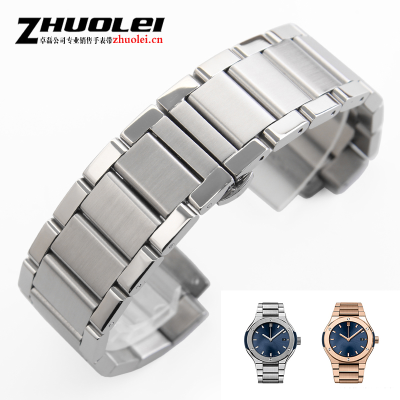 27*19mm New Mens silver Diving stainless steel watch band strap High quality Steel Watch Depolyment Buckle fit HB + 1pcs tool quadraspire 180 19 ножки new silver
