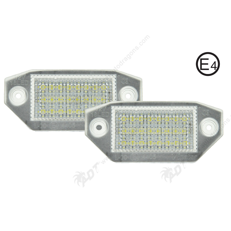 2Pair Super White 6000K canbus No error Car LED  Light number Lamp for Ford Mondeo MKIII 2000-2007 4/5 door 2 pair super white 6000k canbus error free smd chip car led license plate light auto lamp number for ford mondeo mk ii 96 00