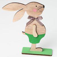 Прекрасный Пасхальный кролик из дерева Банни Стенд Орнамент вечерние предметы домашнего обихода для Для детей DIY подарок ремесел