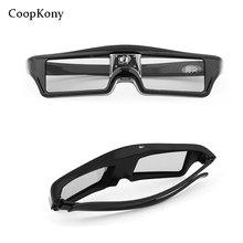 3D okulary aktywne okulary migawkowe DLP-LINK DLP LINK 3D okulary do projektora Optoma Sharp LG Acer do projektora BenQ w1070 żarówka jak 3D okulary 94-144Hz tanie tanio Podwójny Migawki Nie-Wciągające Coopkony standard Okulary Tylko Pakiet 1