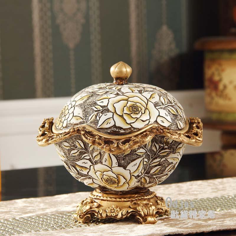 European resin jewelry box storage box Creative candy box retro luxury jewelry box wedding gift Decoration