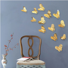 12Pcs 3D Hollow Butterfly Wall Stickers