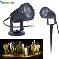 LED Garden Light 9W 3x3w IP65 Waterproof Outdoor lighting Pond path flood spot light  Lawn Lamps DC/12V Warm /Cold White