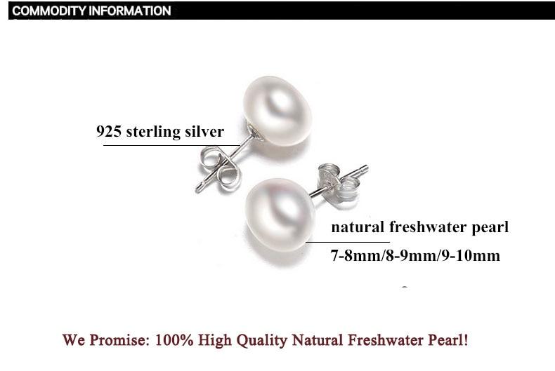 ZHBORUINI İnci Sırğalar Qadınlar üçün 925 Sterling Gümüş - Moda zərgərlik - Fotoqrafiya 6
